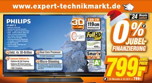 Philips 47PFL6007K bei Expert für 799,- €