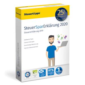 SteuerSparErklärung 2020 für 19,95 € als Download oder als DVD (inkl. Versand) im Spar-Abo (jederzeit kündbar)@Steuertipps.de