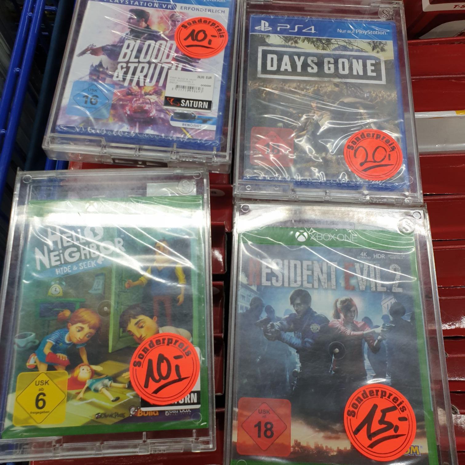 !LOKAL! Saturn Münster (Arkaden) Diverse PS4 und XBox One Spiele zu Sonderpreisen z. B. Blood & Truth für 9 € oder Days Gone für 18 €