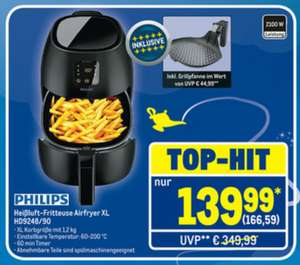 Philips HD9248/90 Avance Collection Airfryer XL Heißluft-Fritteuse METRO
