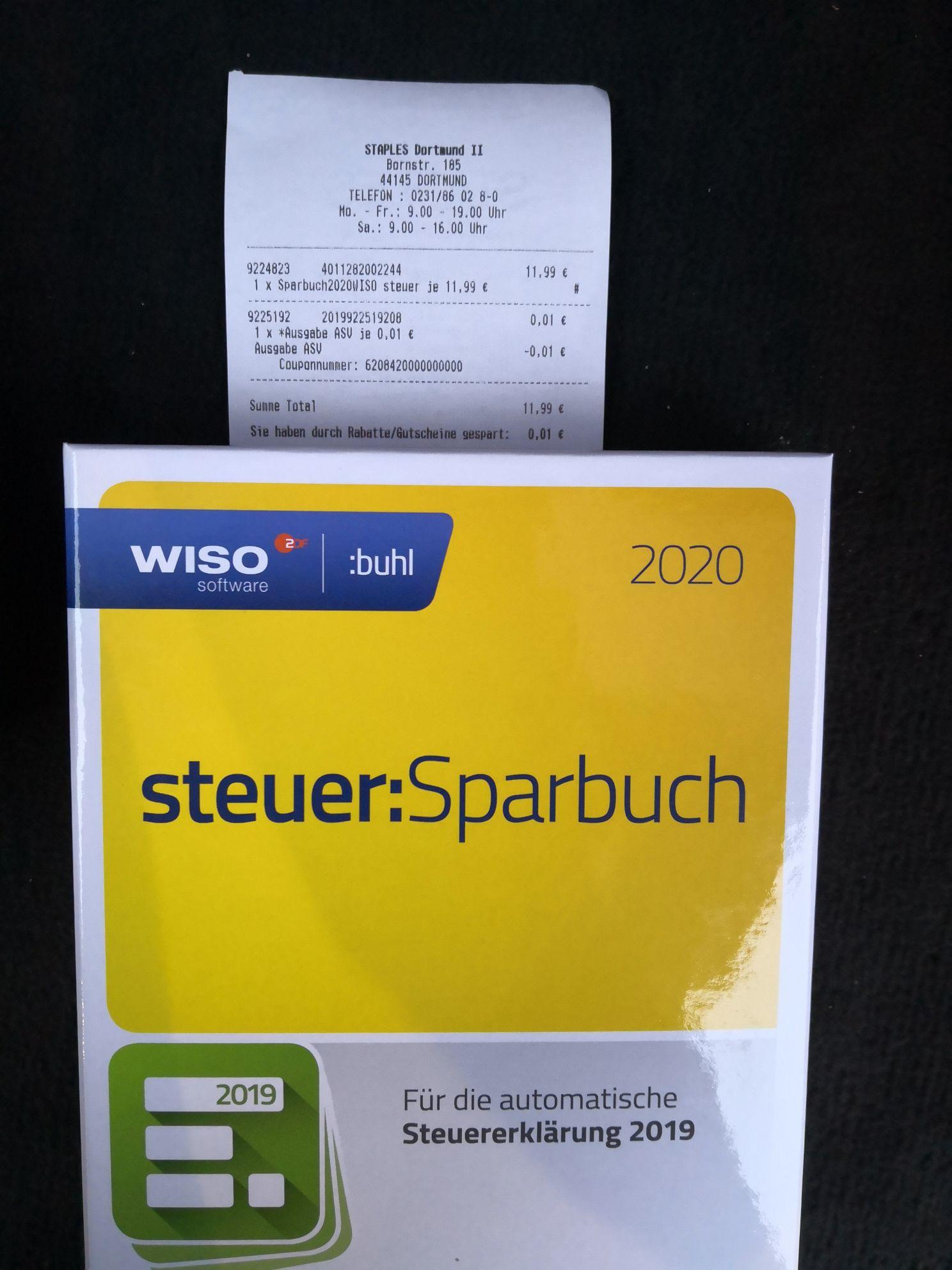 STAPLES WISO Steuer Sparbuch 2020 (für Steuerjahr 2019) Lokal siehe Beschreibung (u.a. Dortmund, Essen, Frankfurt, Hamburg, Bremen, München)