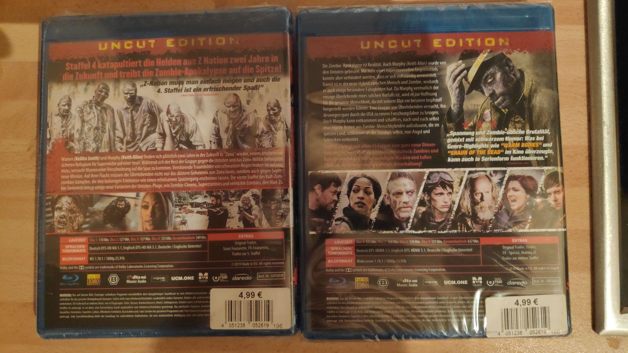 (Lokal?) Z Nation - BluRay - Staffeln 3 und 4