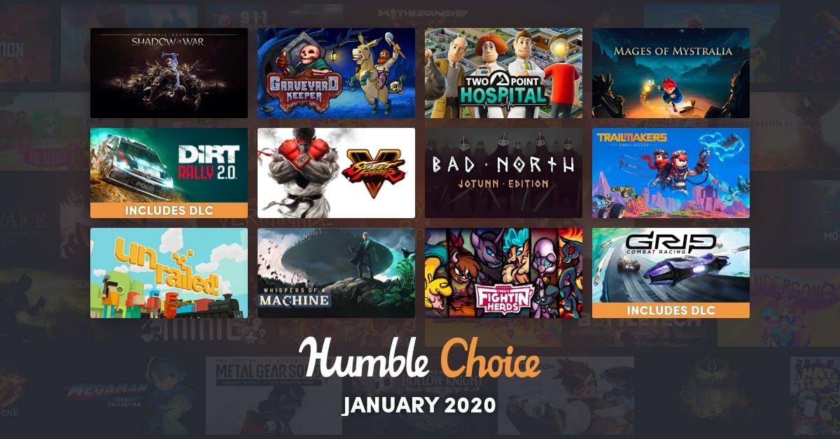 Humble Choice (Steam) mit 3 Spielen für 13,99€ z.B. TWO POINT HOSPITAL + DIRT RALLY 2.0 + 3 DLCS + STREET FIGHTER V