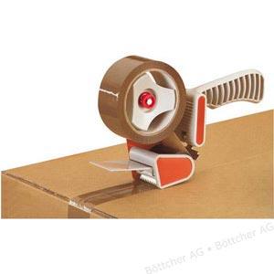 Ab 09.01.: Paketbandabroller / Packbandabroller + 1 Rolle ¦ 3 Packbandrollen (Braun oder transparent) ¦ Gewebeklebeband von 3M (farbig)