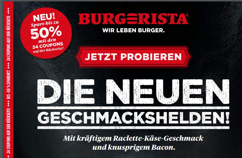 BURGERISTA - Coupons bis zu 50 % sparen