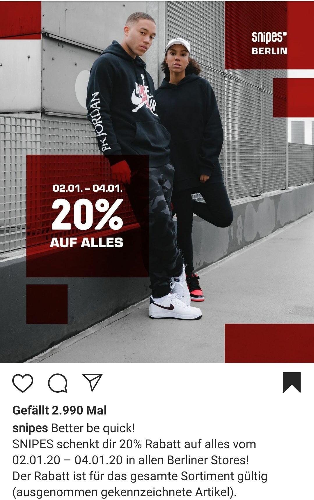 20% Snipes Berlin