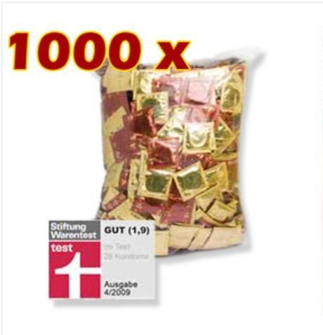 1000 Kondome - Stiftung Warentest Gut (1,9)