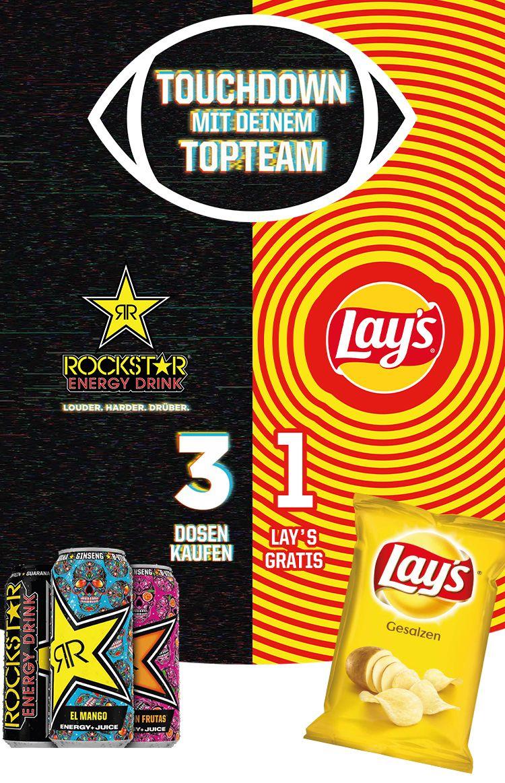 [Scondoo] 3x Rockstar kaufen 1x Lay's kostenlos via Cashback erhalten