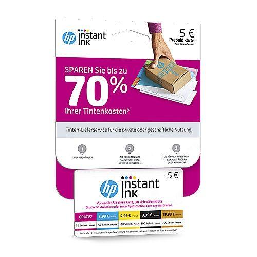 HP Instant Ink Prepaid Karte für nur 2,90€ statt 5€