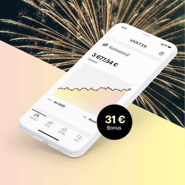 Vantik Altersvorsorge-App (ohne Schufa) 31€ für Kontoeröffnung
