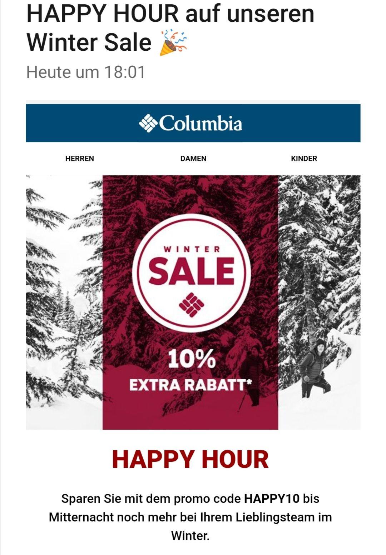 Columbia 10% extra auf Sale nur bis Mitternacht - Mode, Schuhe, Sportbekleidung