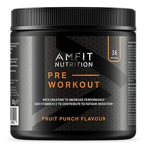 AMFIT PRE-WORKOUT [Booster] Fruitpunch 360g, 36 Portionen