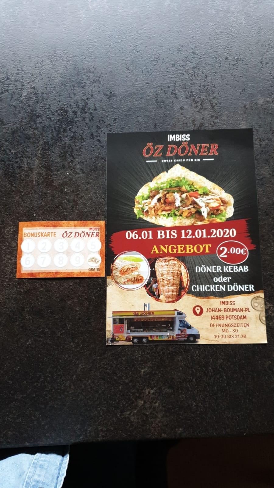 [Lokal Potsdam] Döner Kebab und Chicken Döner für 2,00€ vom 06.01. - 12.01.