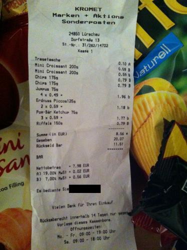 [Lokal?]  Chio Chips 175g -> 0,79€  / Funny-Frisch Jumpys 0,49€ uvm. bei Krümet  in Lürschau (bei Schleswig)