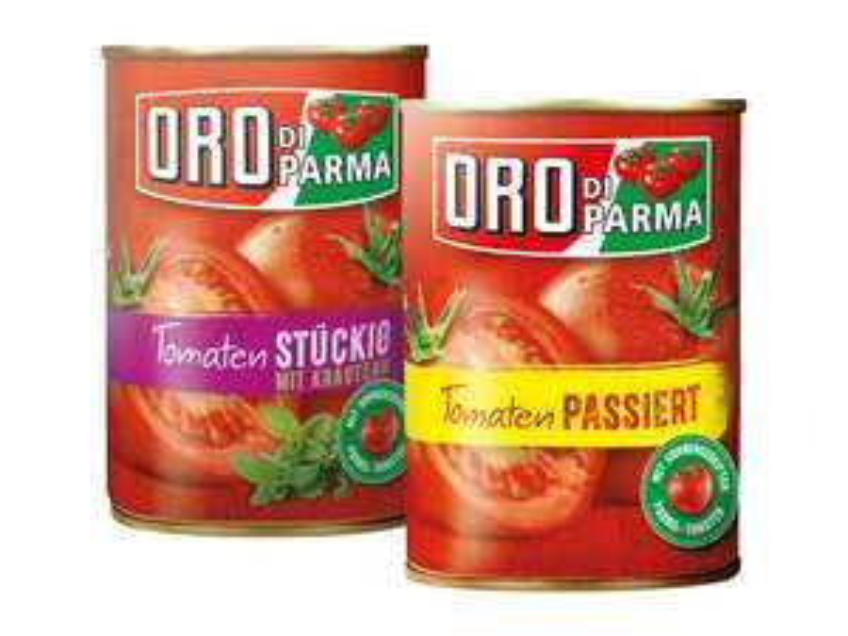 Oro di Parma Tomaten Stücke oder Passiert für 0,88 Euro