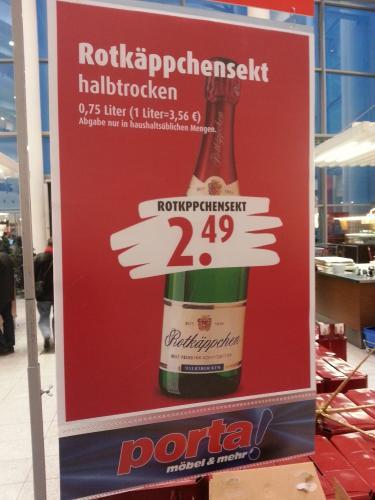 Rotkäppchensekt 0,75l (lokal?! Köln marsdorf)