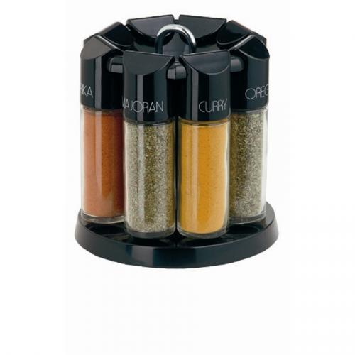 Emsa GALERIE Gewürzkarussell mit 8 Gewürzen schwarz Amazon WHD für 15,90€ mit Prime