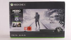 Microsoft Xbox One X 1TB schwarz + Metro Exodus Bundle Neu OVP