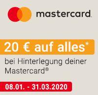 20€ Rabatt ab 70€ auf alle Produkte von Notebooksbilliger bei Zahlung per Mastercard