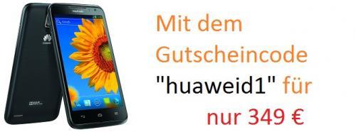 Huawei Ascend D1 Quad XL schwarz für nur 349€ zzgl. VSK ab 7,99€