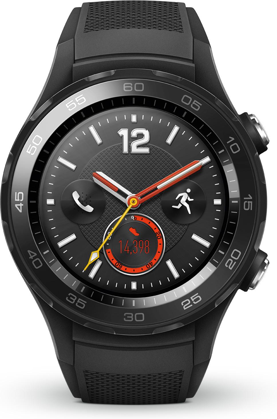 Huawei Watch 2 mit Sportarmband Schwarz