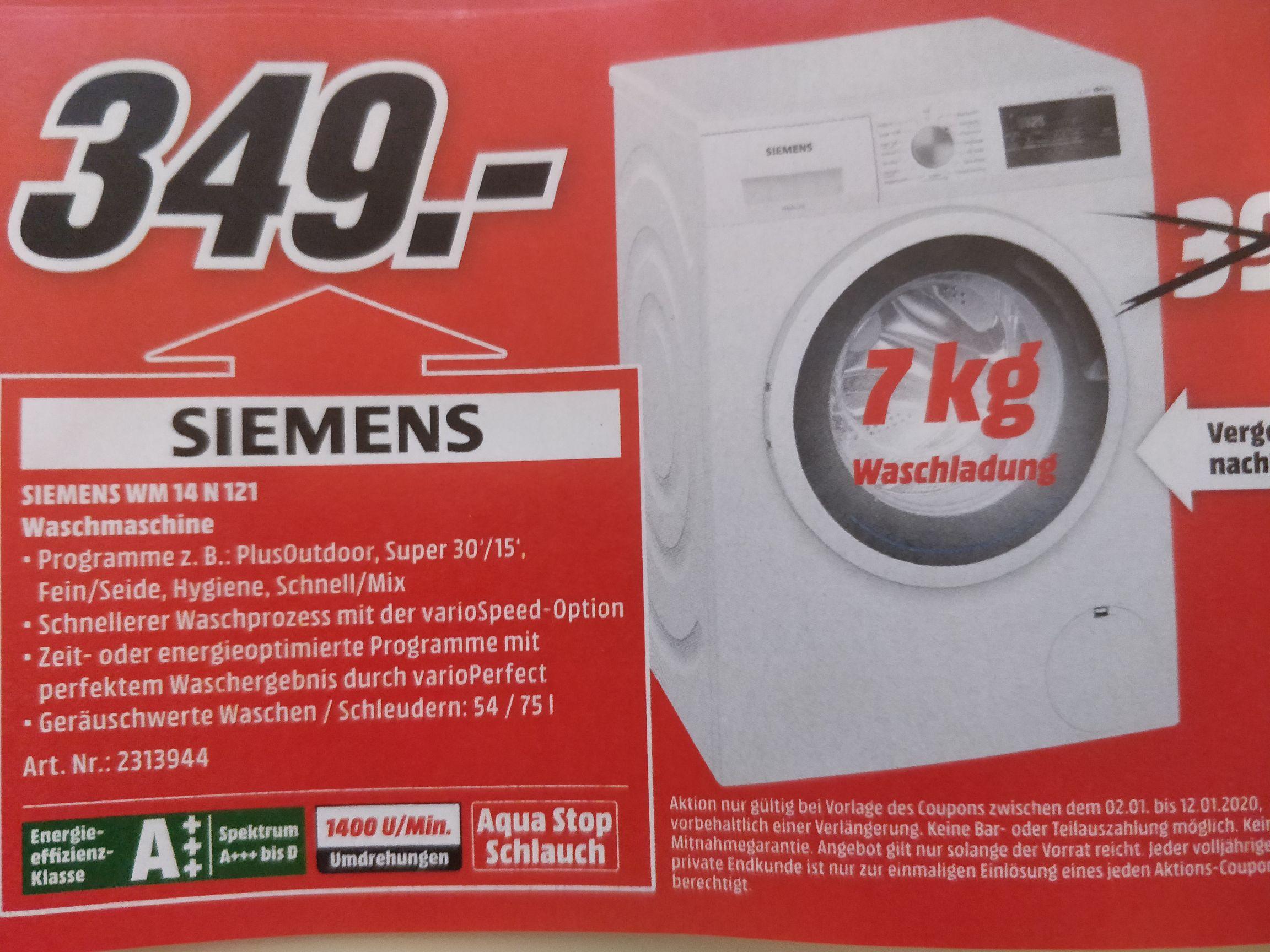Siemens WM 14 N 121 7kg A+++ Waschmaschine