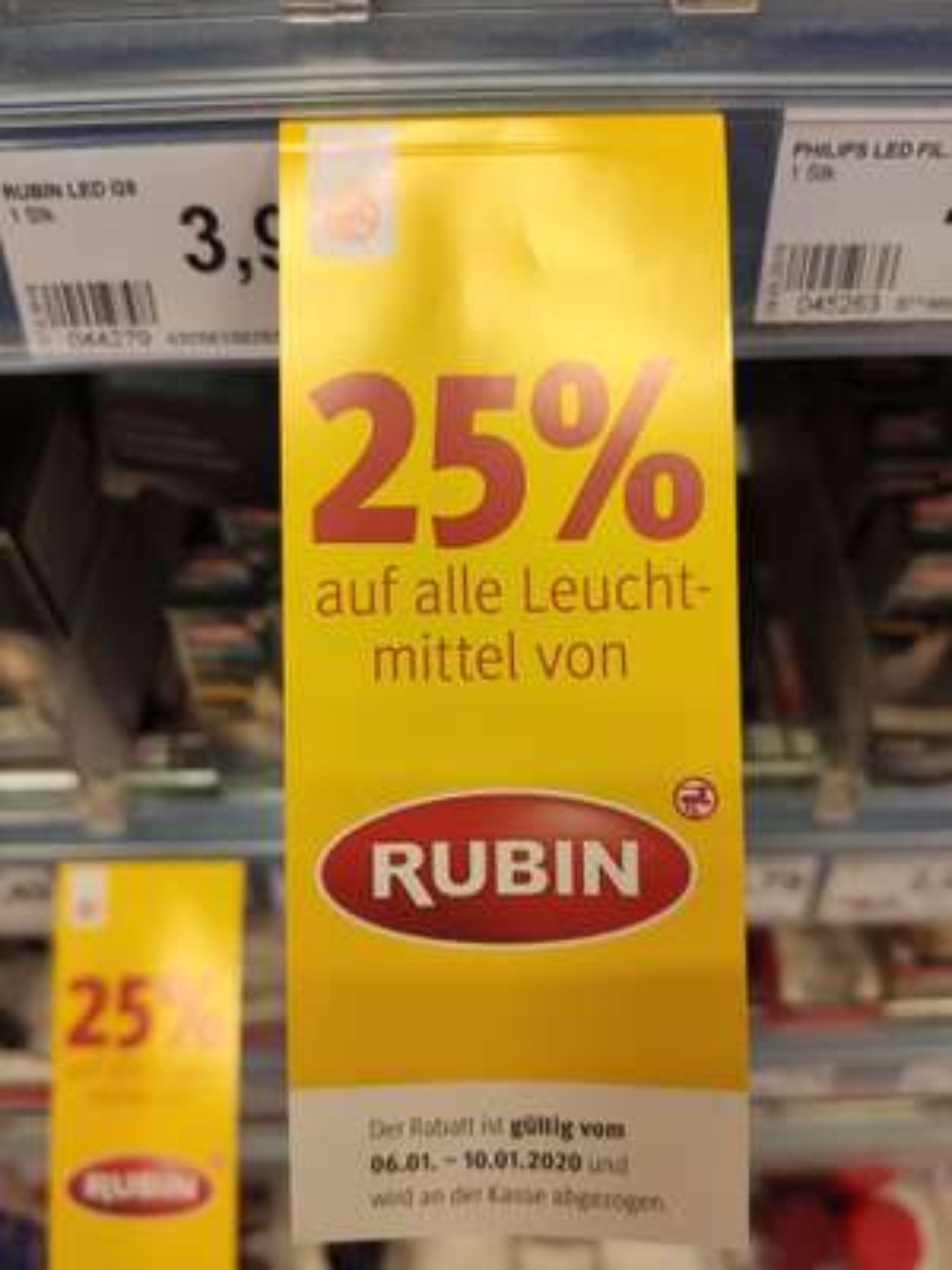 [Rossmann] bundesweit im Shop - 25% auf Leuchtmittel der Marke RUBIN