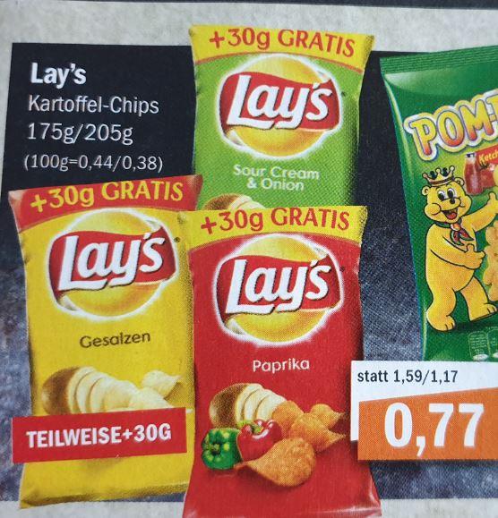 LOKAL - Oldenburg und umzu / aktiv irma (ab Mittwoch): Lays Chips für 0,77€ (50% Rabatt durch Scondoo -> 0,39€), Nutella, Pfeffi .....