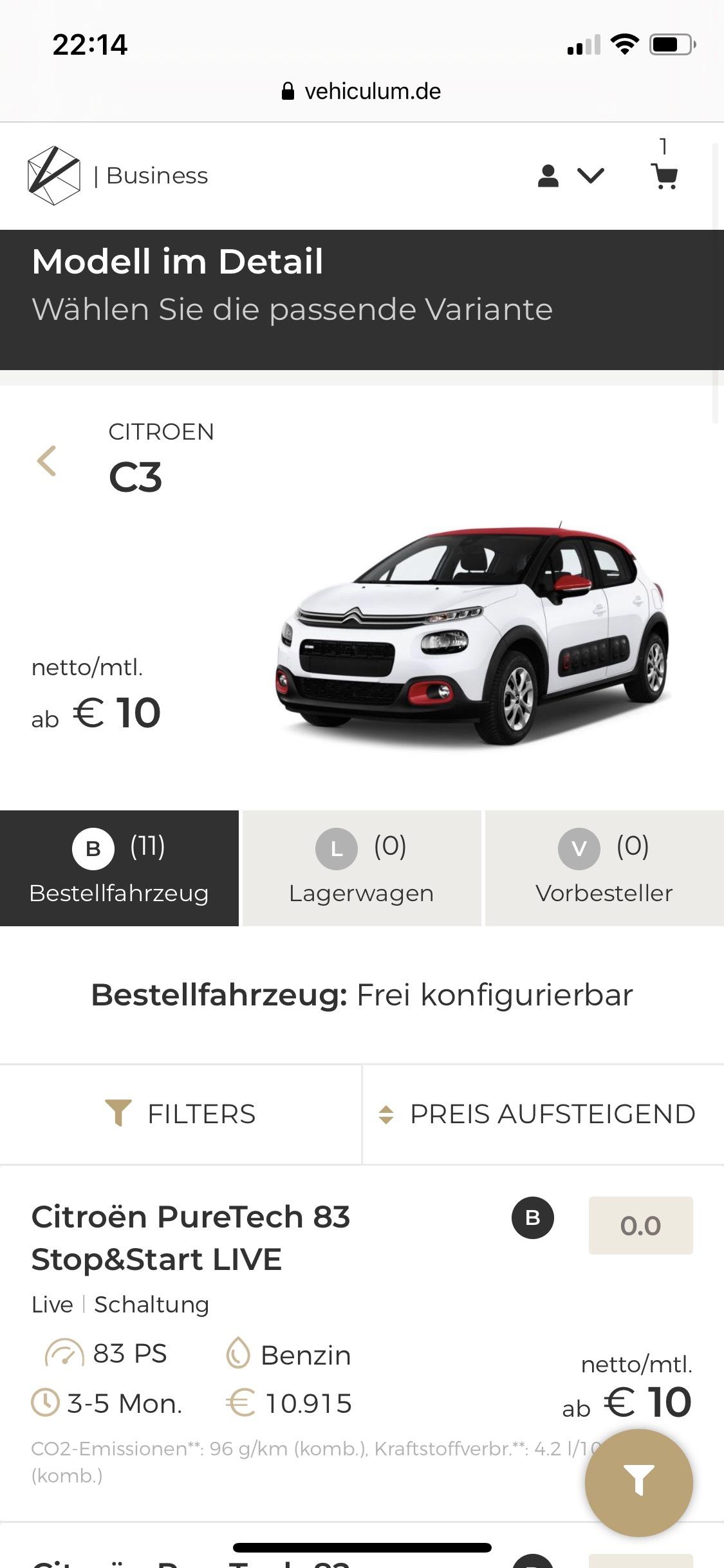 (Gewerbeleasing) Citroën C3