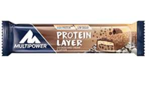 Multipower Protein Layer Bar 18 Riegel (900g) / 36 Riegel (1800g) 18,34€ / 54 Riegel (2700g) 25,96€ Amazon.es