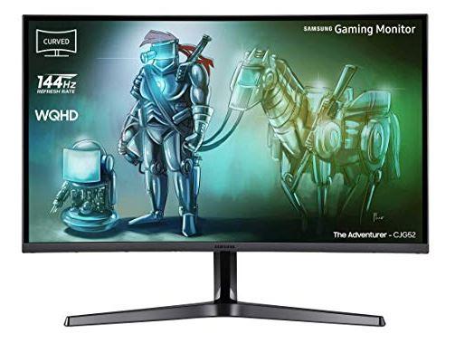 Samsung C32JG52 80 cm (32 Zoll) (HDMI, DisplayPort, 4ms Reaktionszeit (G/G), 144 Hz Bildwiederholungsrate, 2560 x 1.440 Pixel)