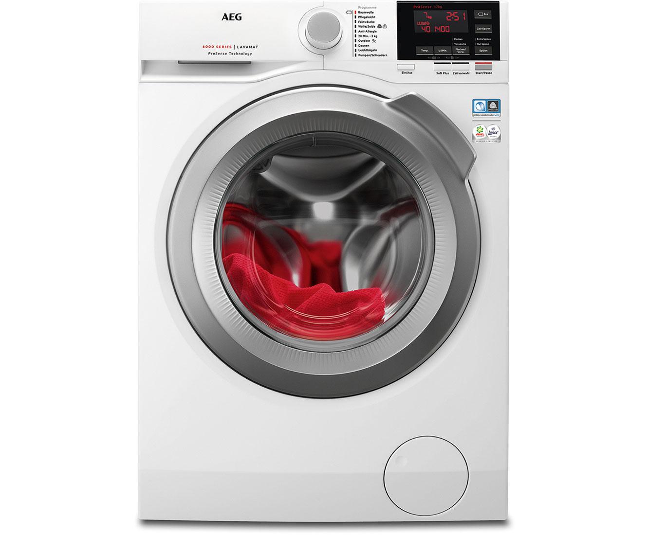 AEG Serie 6000 L6FB64470 Waschmaschine - Weiß, 7 kg, 1400 U/Min, A+++
