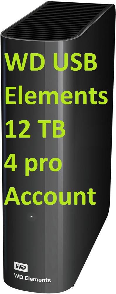 WD Elements 12TB mit 1 WD White, max. 4 pro Account WDBWLG0120HBK [Amazon.co.uk] Western Digital