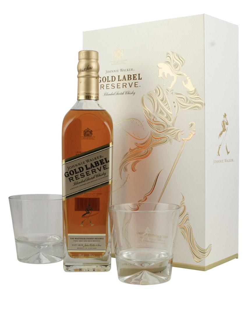 Johnnie Walker Gold Label Reserve Blended Scotch Whisky + 2 Tumbler