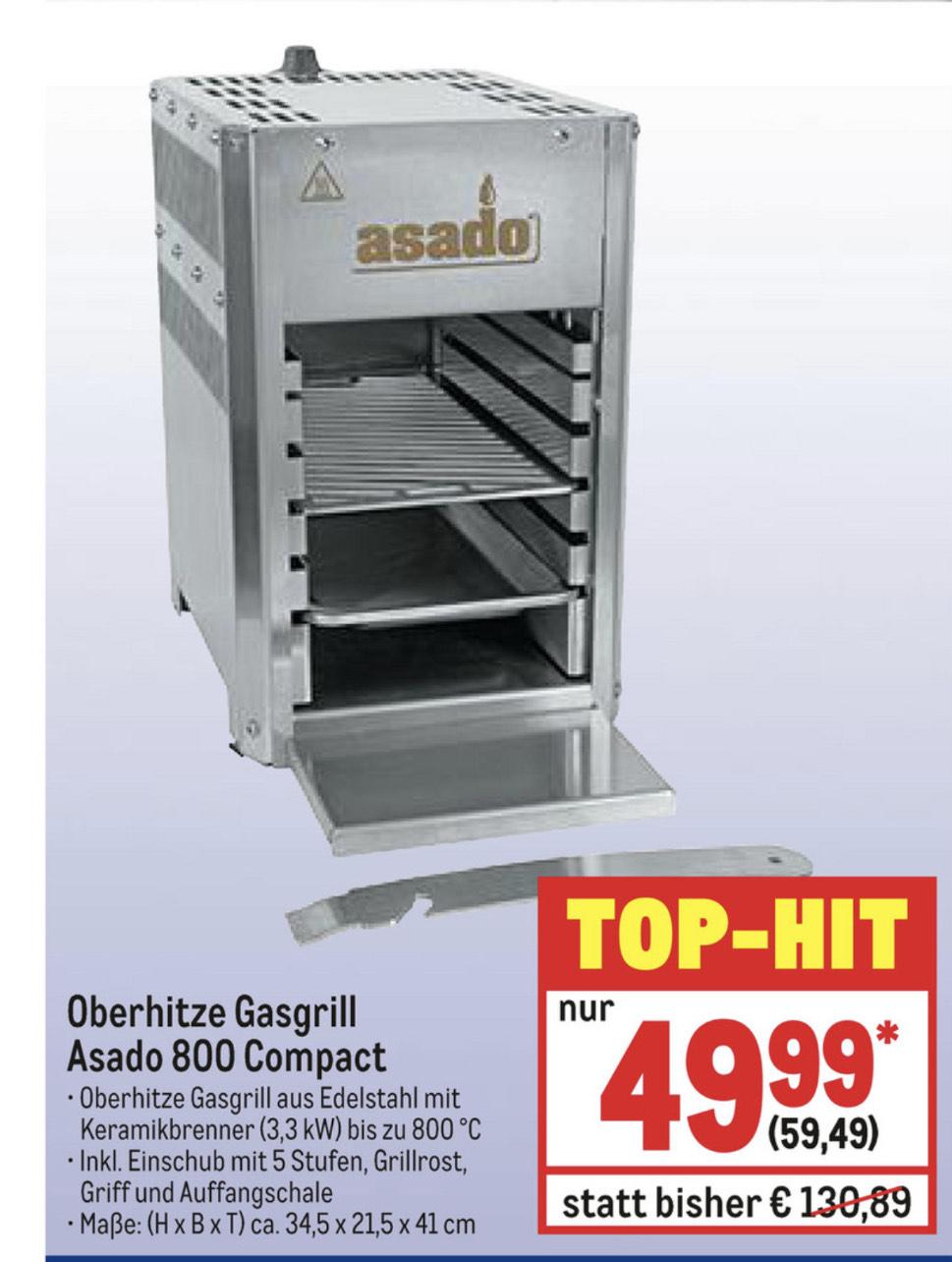 [Metro] Asado 800 Compact Oberhitze Gasgrill / Steakgrill / Beefer ab 23.01.2020 für 59,49€