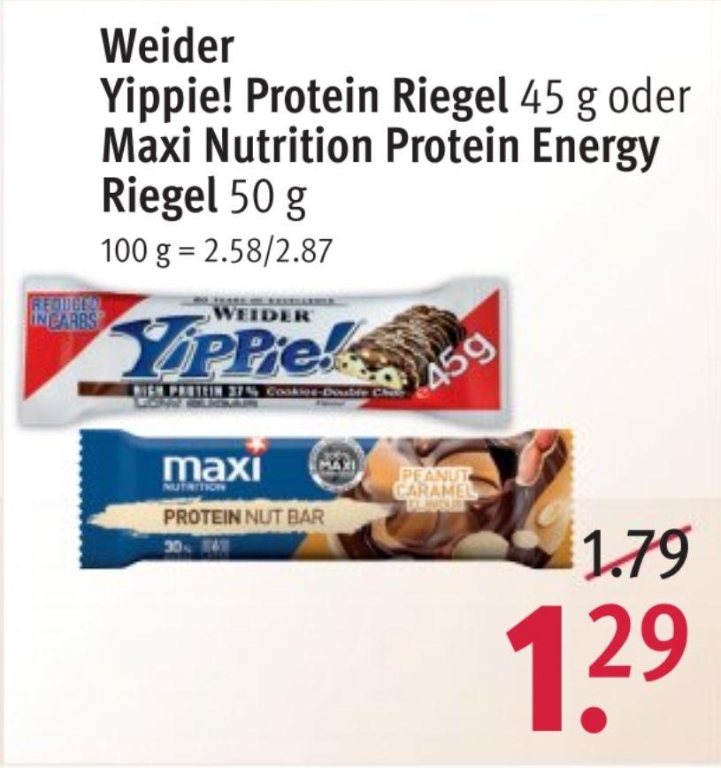 [Lokal Rossmann] Weider Yippie Protein Riegel Low Sugar 45g