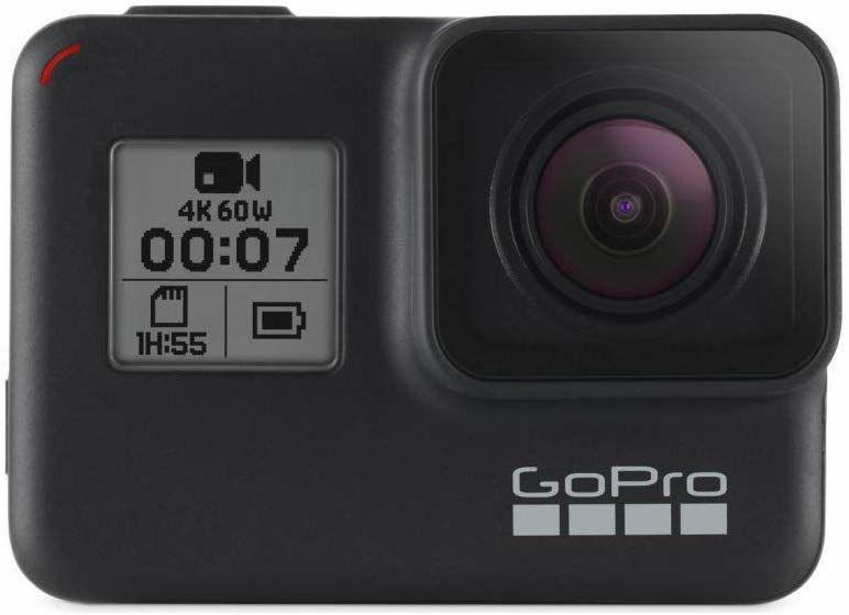GoPro HERO7 Schwarz - wasserdichte digitale Actionkamera mit Touchscreen, 4K-UHD-Videos, 12-MP-Fotos, Livestreaming, Stabilisierung