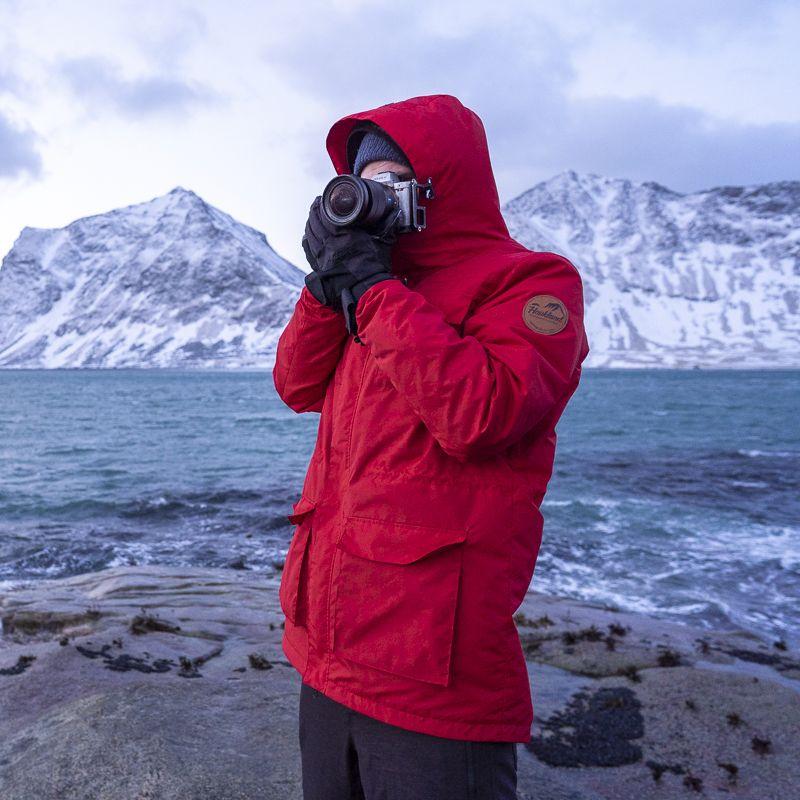 HAUKLAND Explorer Aussenjacke FÜR Fotografen 1.0 – Rot