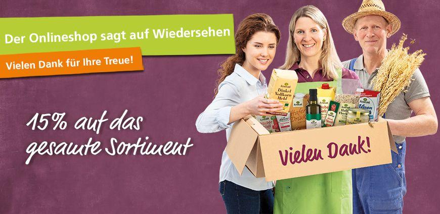 Alnatura Online Shop - 15% auf das gesamte Sortiment + 5% NL - Bio Ausverkauf