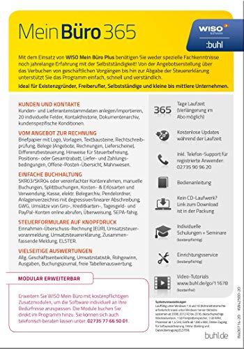 WISO Mein Büro 365 (2020) Plus Bürosoftware