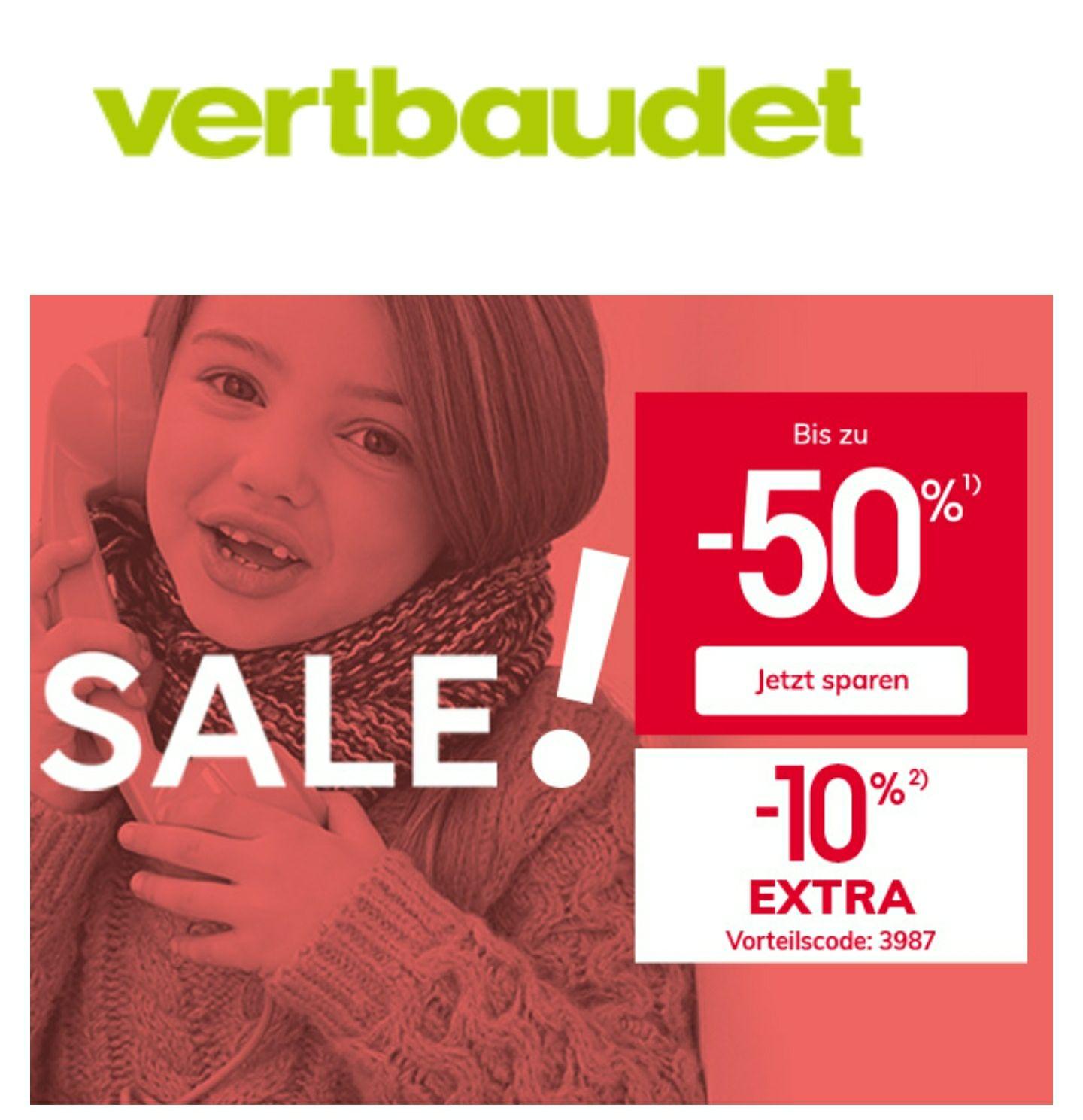 Vertbaudet Sale bis zu 50% + 10% extra auf Sale-Artikel + Versandkostenfreie Lieferung bis 14.01.