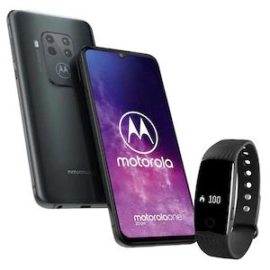 MOTOROLA One Zoom Smartphone plus Fitnessarmband MEDION® LIFE® E1000 - SPARPAKET