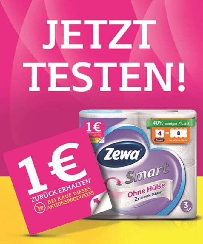 Zewa Toilettenpapier (3lagig) bei Rossmann für 2,12€ + 1€ Cashback = 1,12€ (effektiv)