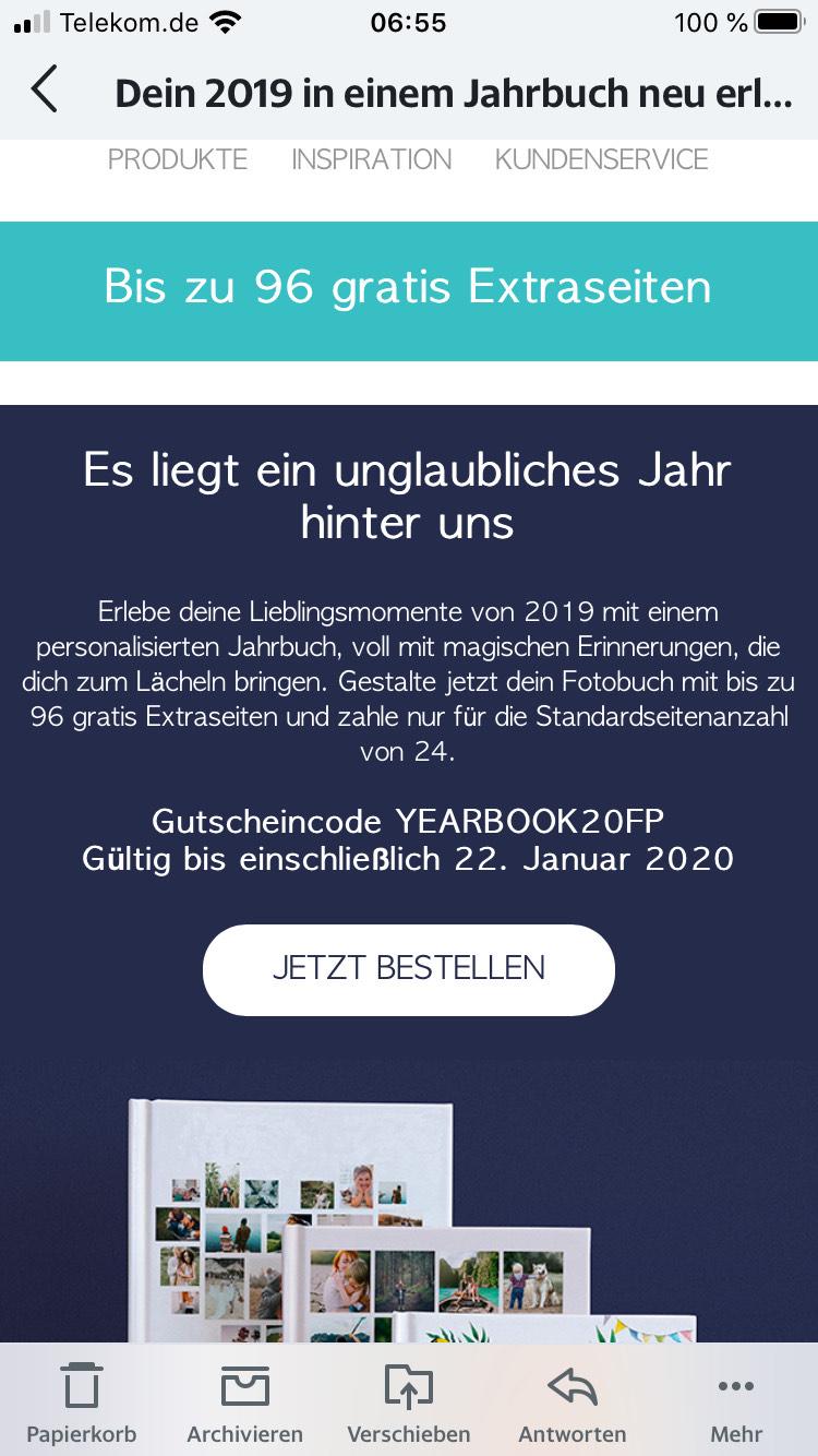 Albelli Fotobuch - kostenlose Extra Seiten