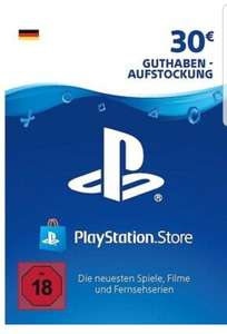 PSN DE Playstation Network Code Card 30 EUR Guthabenkarte