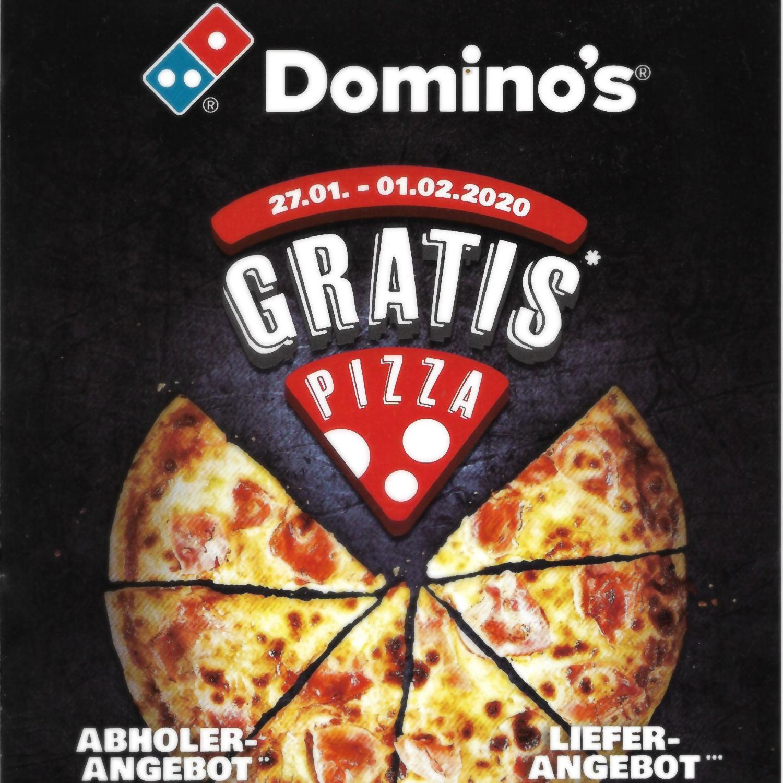 Domino's Pizza: 2 für 1 - Die günstigste Pizza gratis bei Abholung & 3 für 2 bei Lieferung (vom 27.01. - 01.02.)