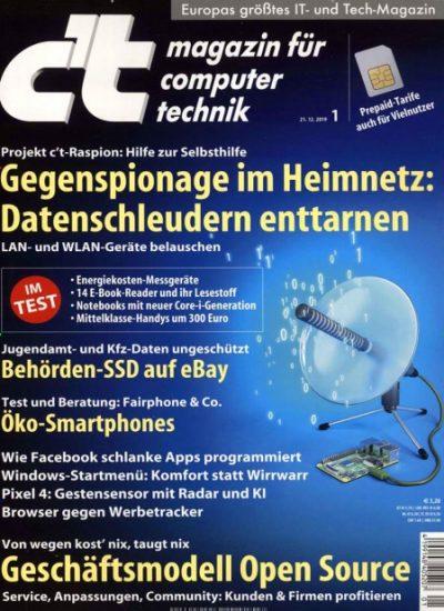 c't Magazin 12 Monate für 103,50€ + 40€ ÜW / Verrechnungscheck