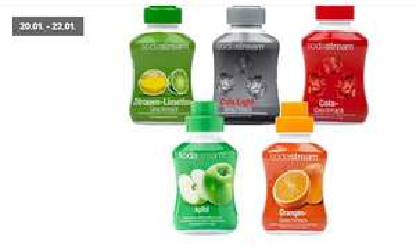 [Kaufland ab 20.01] SODASTREAM Getränke-Konzentrat in verschiedenen Sorten. 500ml Konzentrat für je 2,99€