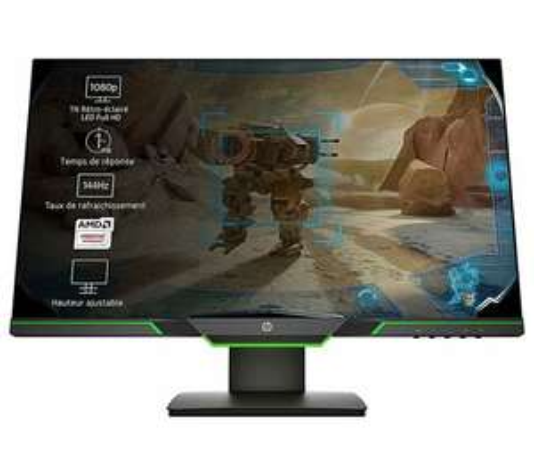 "HP 25x (24,5"" Full HD 144Hz) Gaming Monitor (AMD FreeSync, Nvidia G-Sync compatible, DisplayPort, HDMI, Reaktionszeit 1ms, VESA) schwarz"