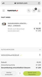 RADARKAMERA-UPDATES – WELT - 3 MONATE
